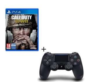 Call of Duty WWII sur PS4 + Manette DualShock 4 V2 Noire
