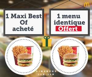 1 Maxi Best Of acheté = 1 menu Maxi best of identique offert - Toulouse (31)
