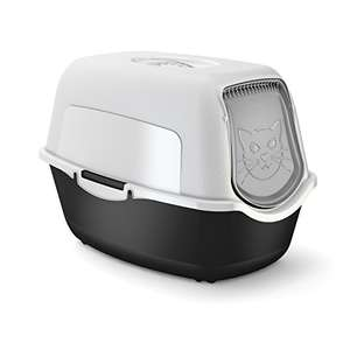 [Prime] Maison de toilette pour chat Rotho Babydesign - blanc / noir