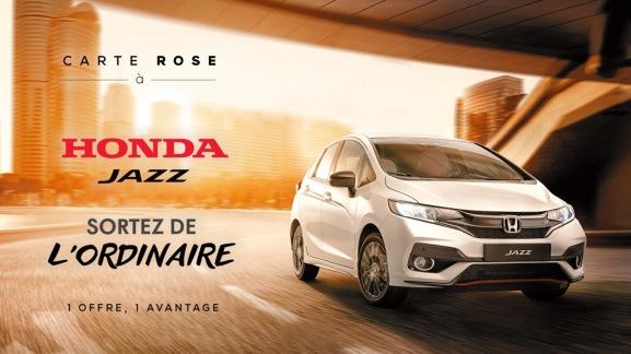 Une nuit dans un hôtel d'exception + un repas gastronomique offerts pour 2 personnes pour l'achat d'une voiture Honda Jazz (valeur 655€)