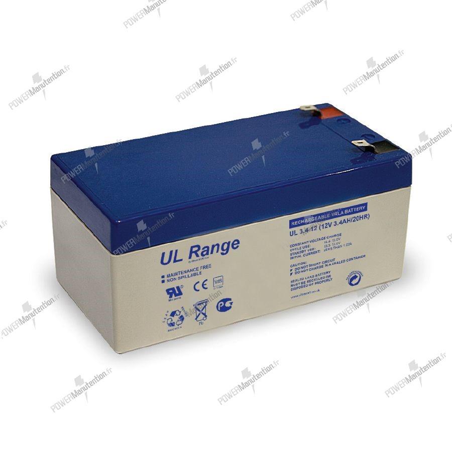 Batterie au plomb rechargeable UL Range - 12 V, 3.4 Ah / 20 HR