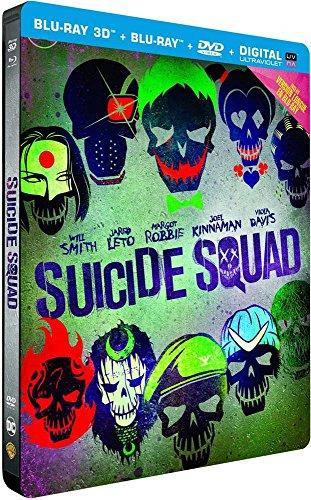 Blu-ray 3D Suicide Squad (+ boîtier steelbook + Blu-ray + DVD + version numérique UV)