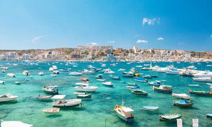 Séjour 4 nuits à Malte en hôtel 4* avec petit déjeuner, transfert aéroport et vols A/R depuis Paris le 6 Avril 2018