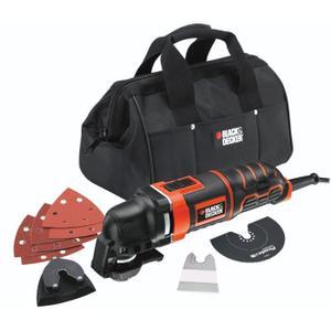 Outil multifonction Black & Decker MT280BA - 280W, filaire (1 sac de rangement + 6 abrasifs)