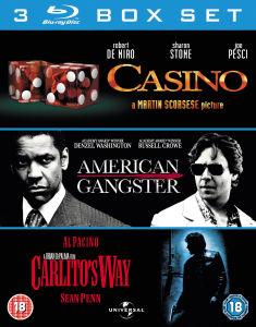 Coffret 3 Blu-ray : Casino - L'impasse - American Gangter