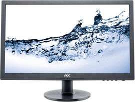 """Ecran PC 24"""" AOC e2460Sh - LED, Full HD, Dalle TN, 1 ms, HP intégrés (Frontaliers Suisse)"""