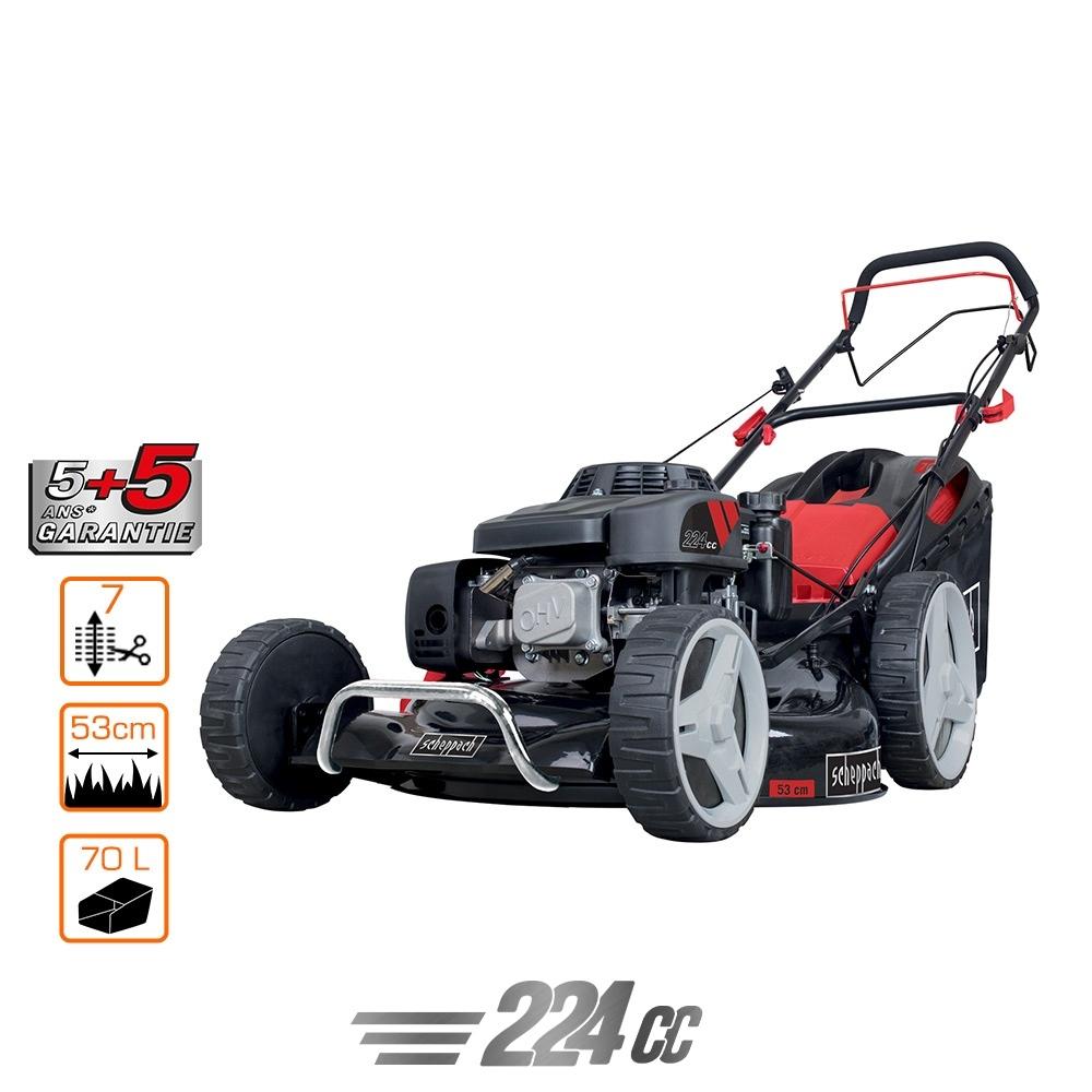 Tondeuse Scheppach Pro 224cc - Black Edition