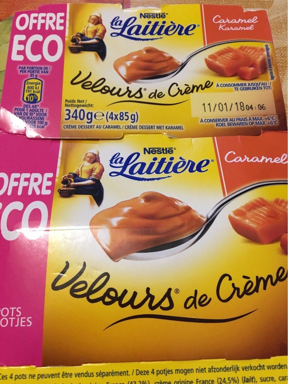 2 Packs de 4 pots Velours de Crème La Laitière (via BDR 1€)