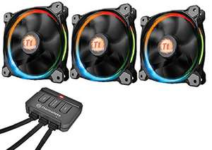Pack de 3 Ventilateurs PC LED RGB   Thermaltake - Riing 12 RGB - RGB Edition