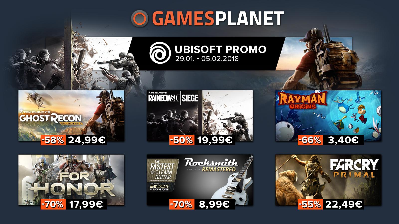 Sélection de 40 jeux PC en promotion (Dématérialisés - Uplay) - Ex : Rainbow Six Siege