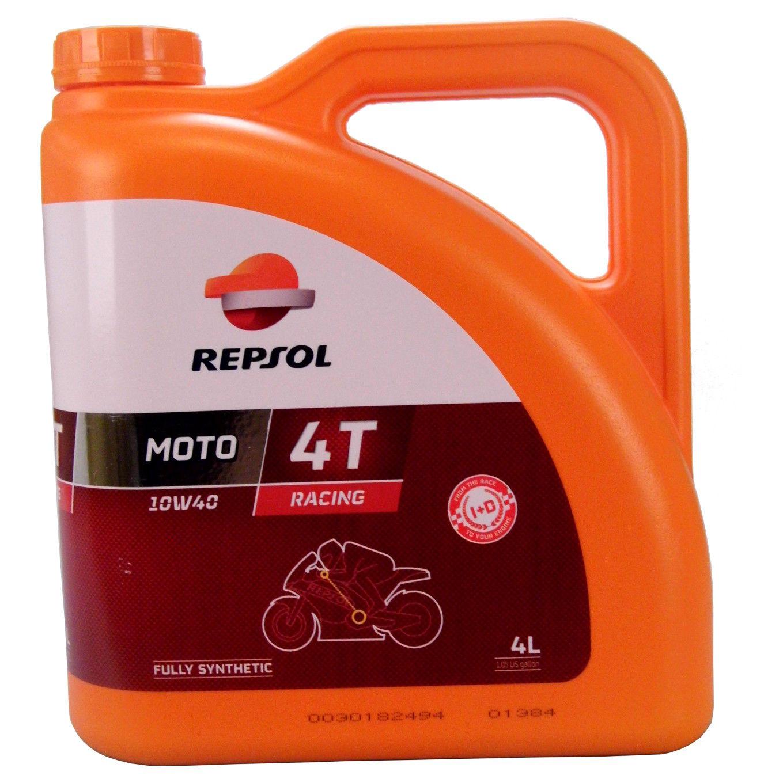 Huile Repsol Moto Racing 4T 10W-40 - 4 Litres