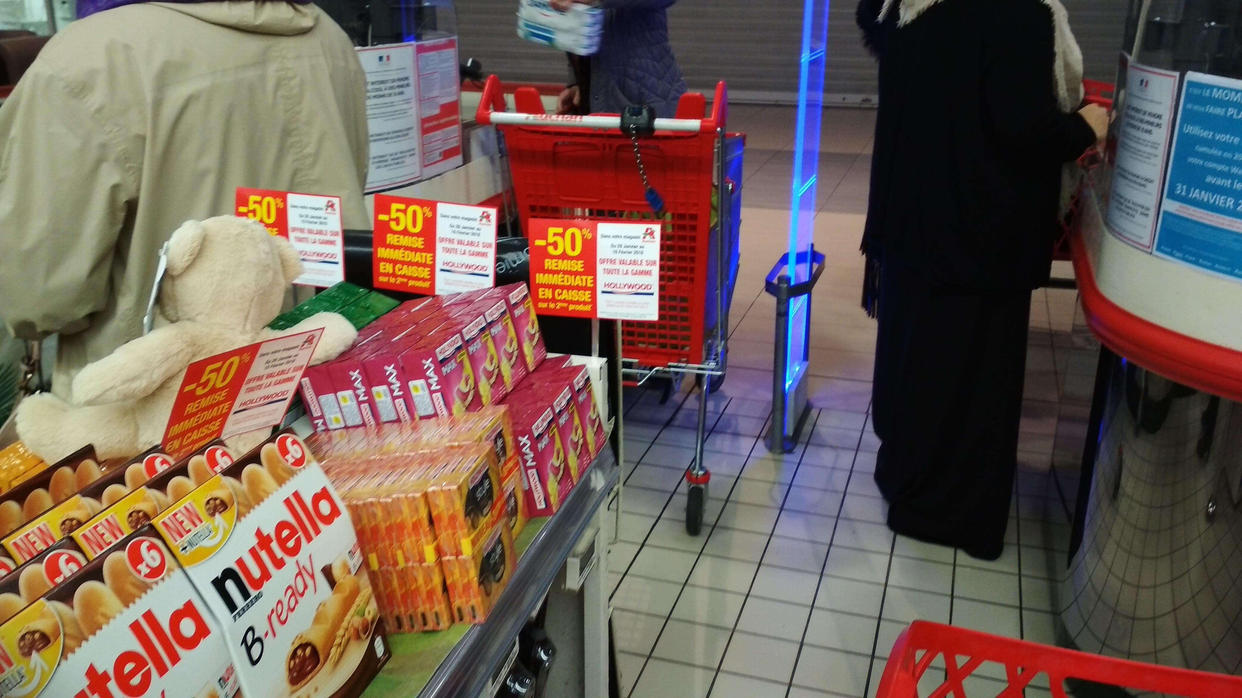 50% de réduction sur le 2ème paquet de chewing-gum Hollywood - Chatellerault (86)