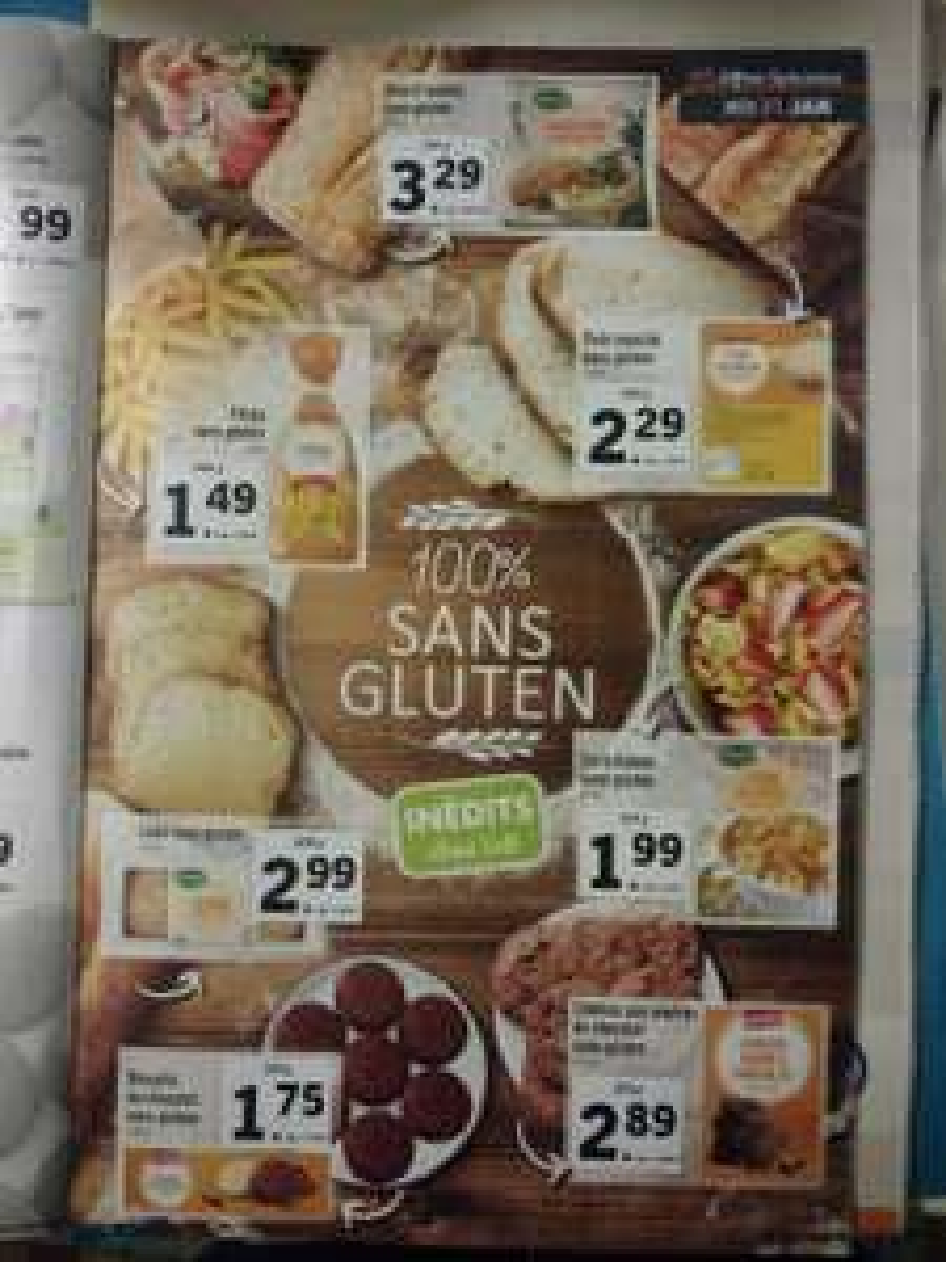 Sélection de produits sans gluten - Ex : Paquet de pâtes sans gluten - 500g