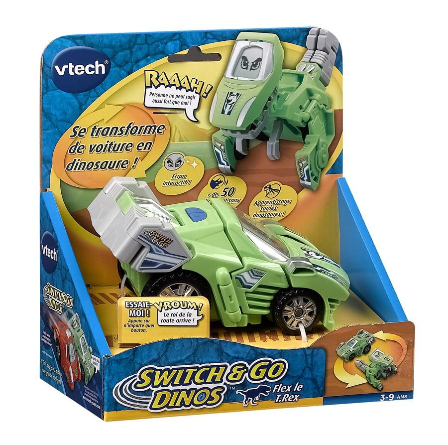 Jouet Switch & Go Dinos - Flex le T-Rex 2en1