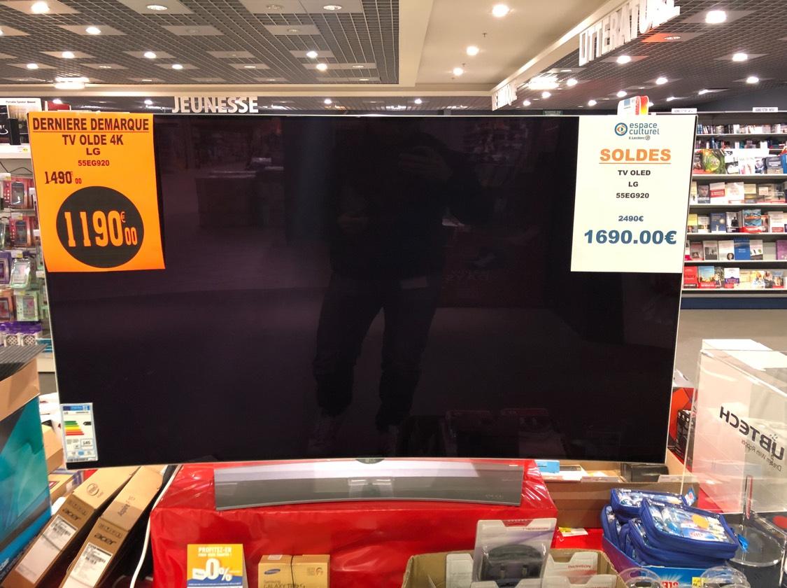 "TV 55"" LG 55EG920 - 4K UHD, Oled - Leclerc Dizy (51)"