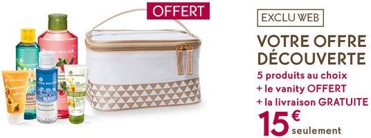 5 produits au choix + 1 Vanity + Eau de Parfum Évidence (39,80€) + Livraison Gratuite