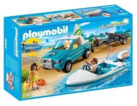 Jouet Playmobil : Voiture avec bateau et moteur submersible n°6864