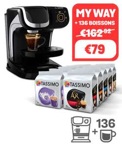 Machine à café Tassimo My Way TAS6002 Noir + 136 boissons