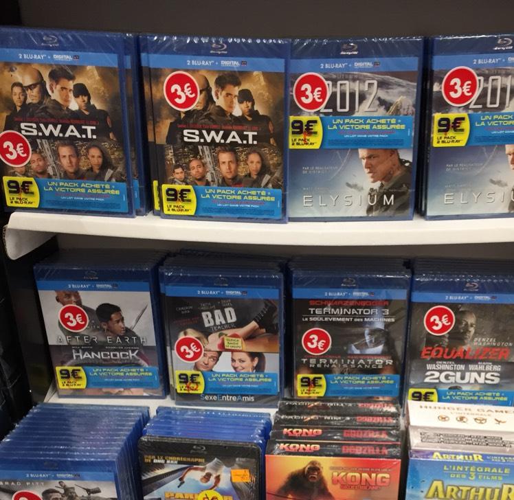 Sélection de Blu-ray en promotion - Ex: Equalizer + 2 Guns ou 2012 + Elysium - Ormesson (94)
