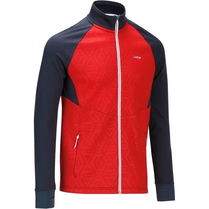 Sweat de ski Wed'ze Mid Warm 500 Rouge - du S au XL