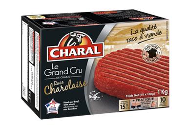 Boite de 10 Steaks Hachés Surgelés Charal Le Grand Cru Charolais (via Carte fidélité + BDR + CN)