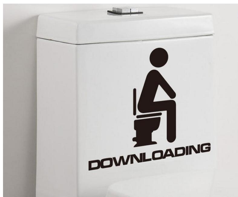 sticker pour toilettes (15 x 13 cm)