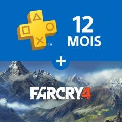 Abonnement PlayStation Plus - 12 Mois + Far Cry 4 sur PS4 (Dématérialisé)