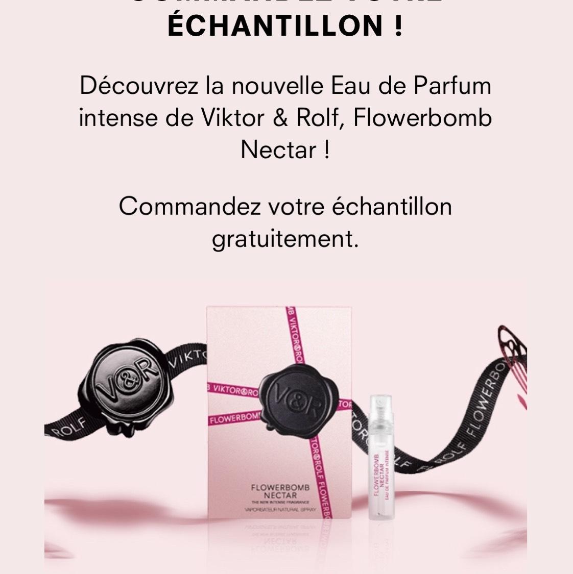 chantillon gratuit d 39 eau de parfum viktor rolf flowerbomb. Black Bedroom Furniture Sets. Home Design Ideas
