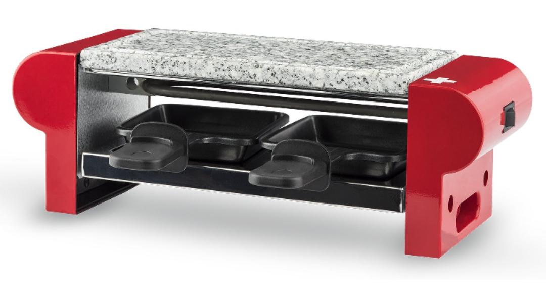 [Prime] Raclette/Pierre à Griller H.Koenig RP2 pour 2 Personnes - Rouge