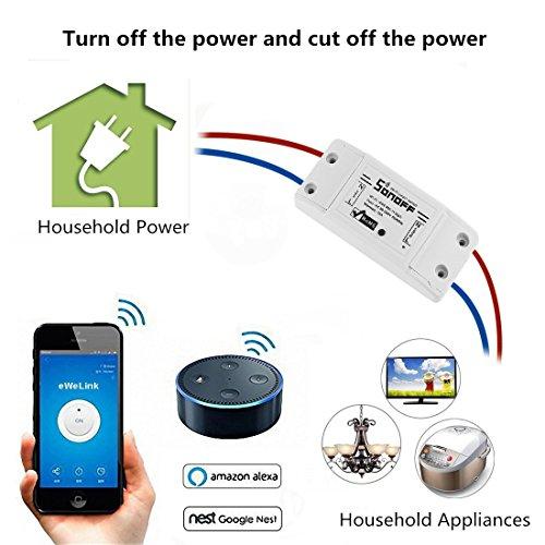 2 Interrupteurs domotiques Sonoff compatibles Google Home et Alexa (Vendeurs tiers)