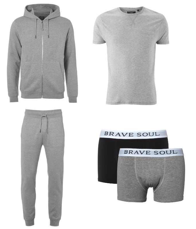 Veste à capuche + pantalon de jogging + t-shirt + 2 boxers (tailles et coloris au choix)