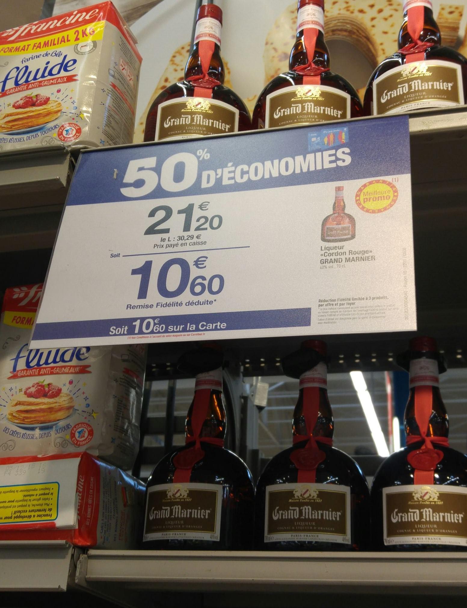 Bouteille de liqueur Grand Marnier - 70cl, Carrefour La pioline (13)