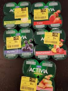 Sélection de packs de 4 yaourts Danone Activia en promotion (DLC courte) - Ex : au fruit Myrtille au Carrefour Villejuif (94)