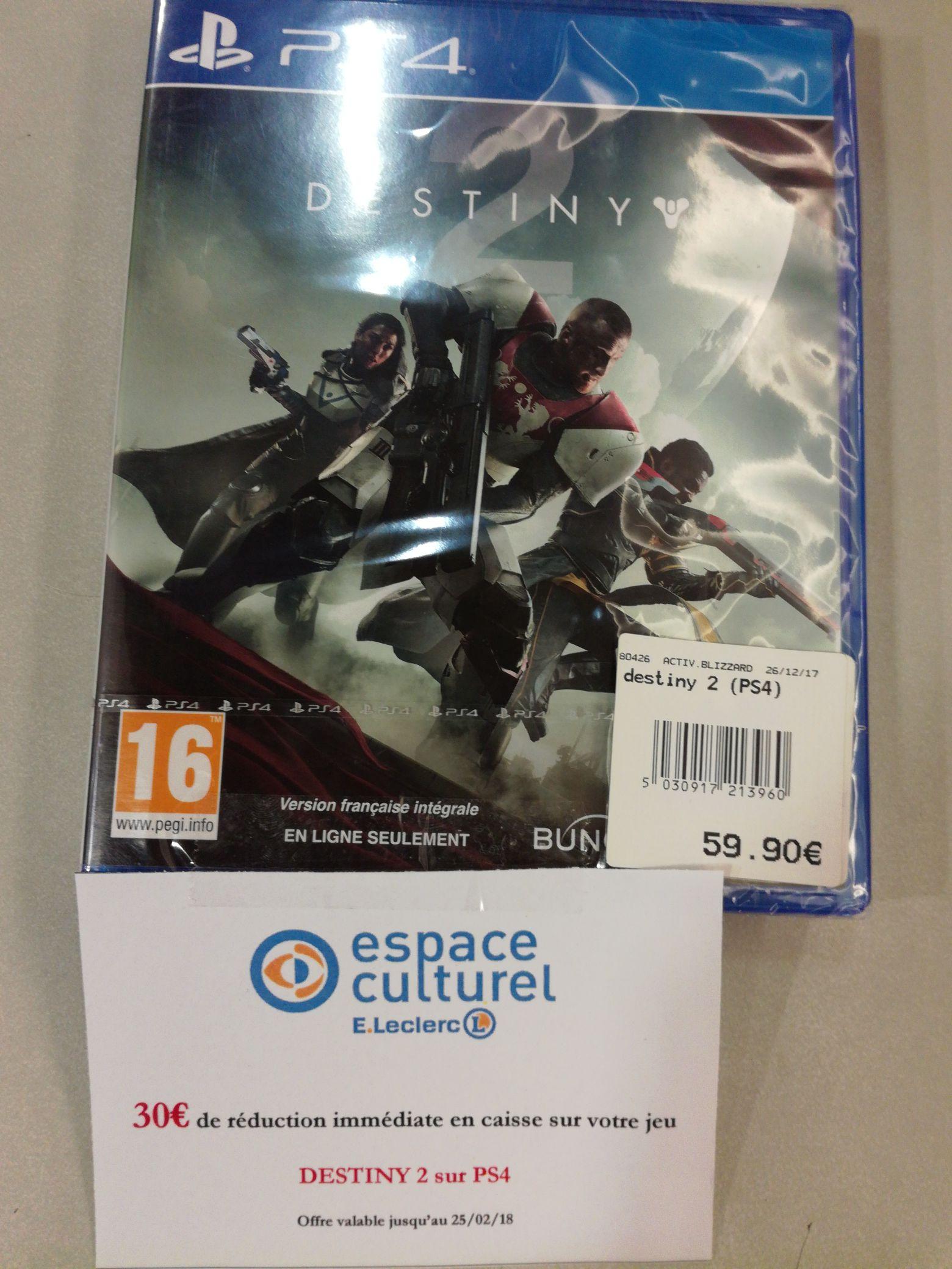 Jeu Destiny 2 sur PS4 ou Xbox One - Leclerc Enval (63)