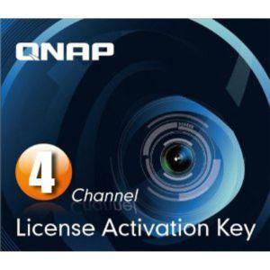 Licence de vidéosurveillance Qnap - 4 Channels