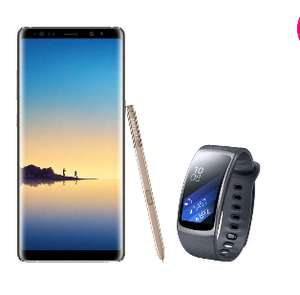 Smartphone Galaxy Note 8 64Go Doré + Gear Fit 2 (via ODR 100€)