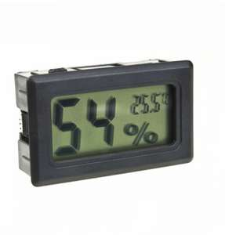 Thermomètre / Hygromètre, Ecran LCD Numérique, Noir