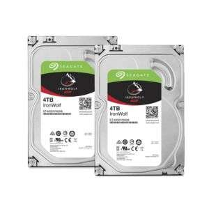 """Lot de 2 disques durs internes 3.5"""" Seagate IronWolf - 4 To"""