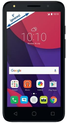 "Smartphone 5"" Alcatel Pixi 4 Noir - 8Go (Via Carte de Fidélité)"