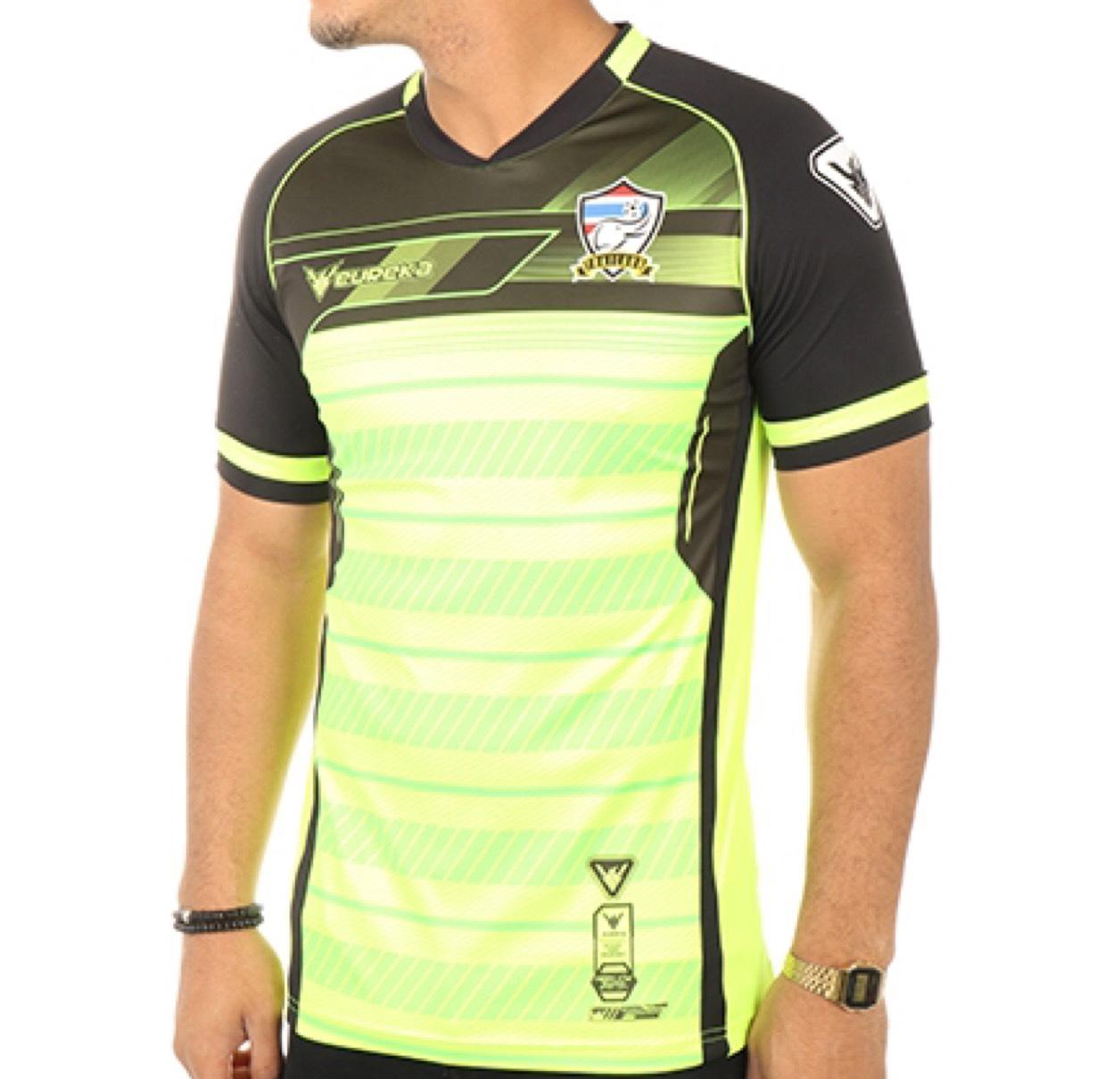 Maillot De Football Thailand A5017 Jaune Fluo Noir - Taille XL ou XXL