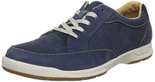 Chaussures homme Clarks en nubuck bleu