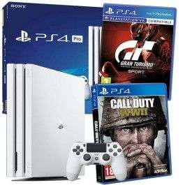 Console Sony PS4 Pro 1To + CoD WWII + GT Sport