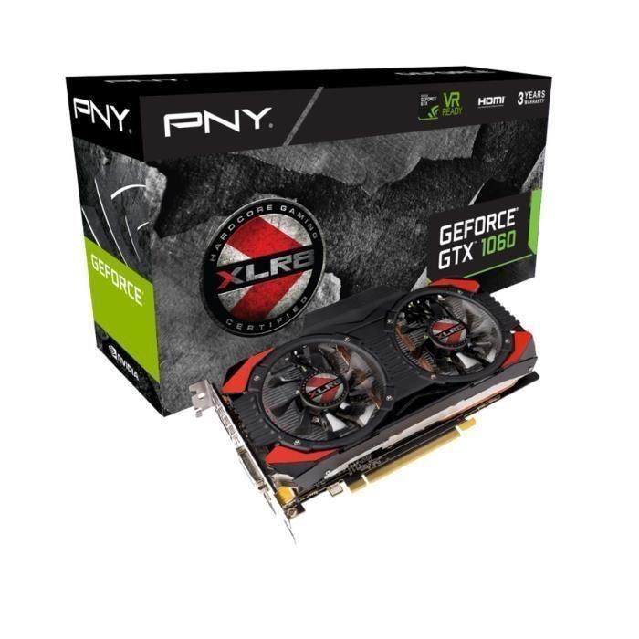 [Étudiants] Carte graphique PNY GeForce GTX 1060 XLR8 OC GAMING 6Go - GDDR5