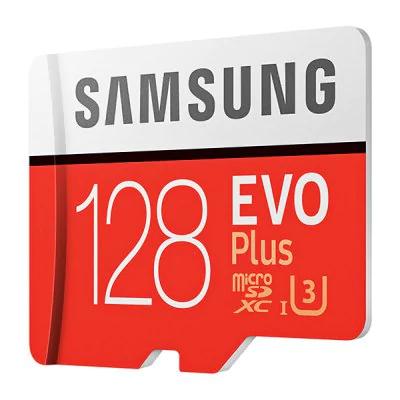 Carte Micro SDXC Samsung Evo Plus U3 - 64 Go à 16.66€ et 128 Go à 35.82€