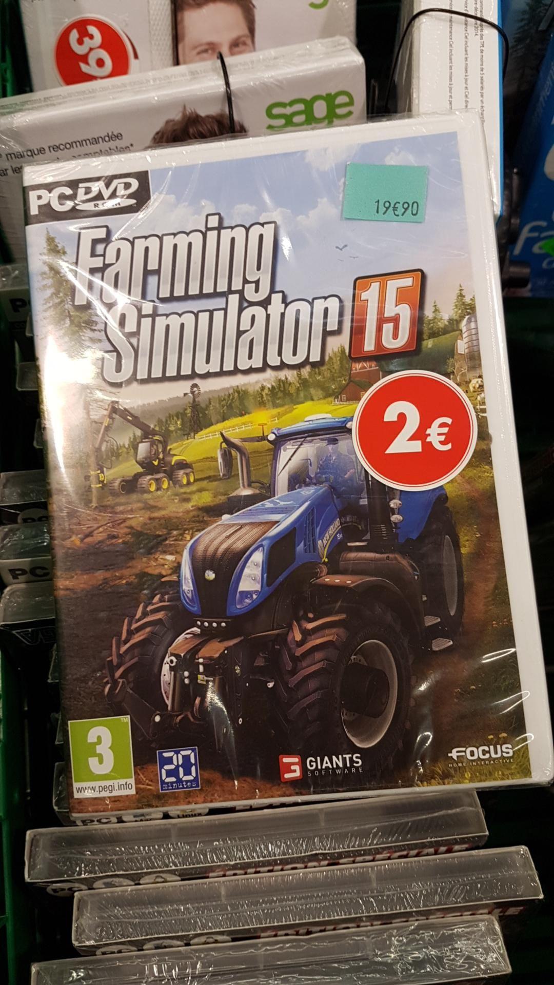 Jeu Farming Simulator 15 sur PC à Carrefour Lormont (33)