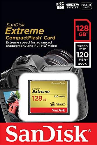 Carte mémoire CompactFlash SanDisk Extreme UDMA7 - 128 Go