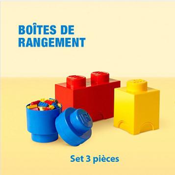 Sélection de boites de rangement Lego en promotion - Ex : Set de 3 boites de rangement