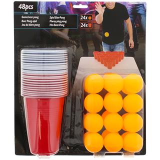 Kit de beer pong - 48 pièces