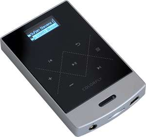 """Baladeur Musique Colorfly C3 - Ecran 1"""", 8 Go + Port Micro SD, Autonomie 18h (Argent)"""