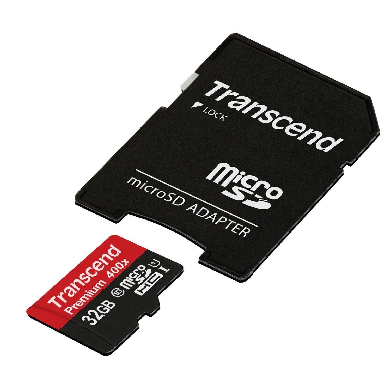 Carte Micro SDHC Transcend Classe 10 - 32 Go avec Adaptateur SD